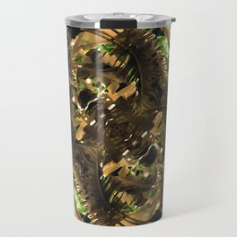 Artificial Tribal Jungle Print Travel Mug