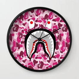 Bape Shark Pink Wall Clock