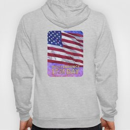 Fourth of July American Flag Independence Day 1776 Hoody
