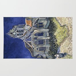 Church At Auvers Sur Oise by Van Gogh Rug