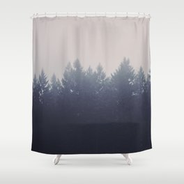 Forest in the Haze Shower Curtain