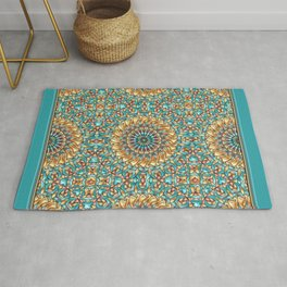 Gold and Green Rug