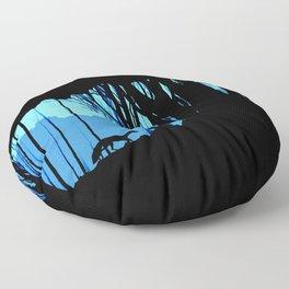 Fox in the woods silhouette Floor Pillow