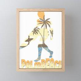 Palm Beach Surfer Framed Mini Art Print