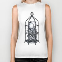 cage Biker Tanks featuring Fetus Cage by Elias Aquino