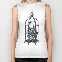 cage Biker Tanks featuring Fetus Cage by Elias Aquino