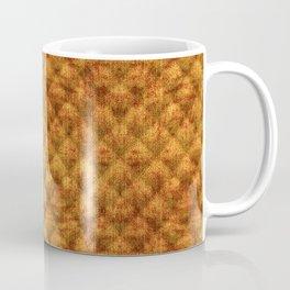 Quilted Dusty Orange Velvety Pattern Coffee Mug