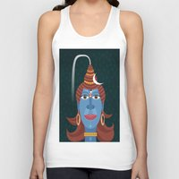 transformer Tank Tops featuring Lord Shiva - Transformer or Destroyer by quackdesigns