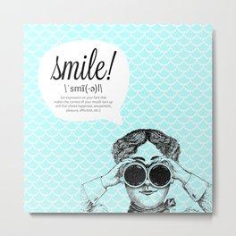 smile! (bright) Metal Print