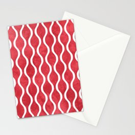 Retro Tie Dye Ogee Pattern 315 Red Stationery Cards
