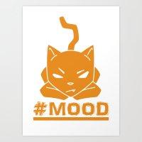 #MOOD Cat Orange Art Print