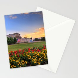 Sunset over Art Hill in Forest Park, St. Louis, Missouri Stationery Cards