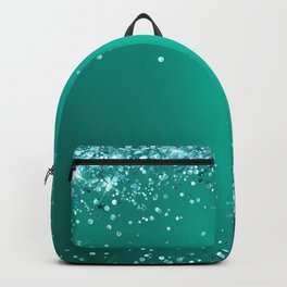 Teal Glitter Gradient Pretty Fancy Sparkling Backpack
