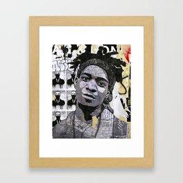 Basquiat on the wall Framed Art Print
