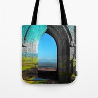 portal Tote Bags featuring Portal by Tobias Bowman