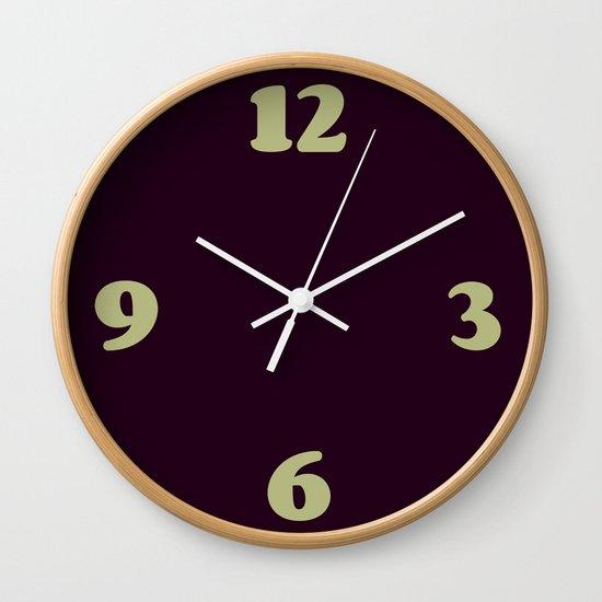 Eggplant Purple Color Scheme Home Decor Wall Clock by ...