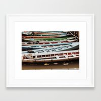boats Framed Art Prints featuring Boats by BTP Designs