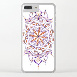Blue and Orange Clear iPhone Case