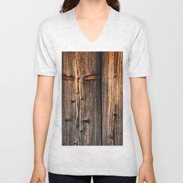 old wood table Unisex V-Neck