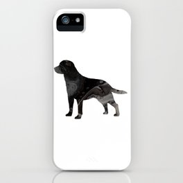 Labrador Retriever Black Fluid Abstract Art - Lab Image iPhone Case