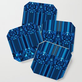 Blue Grid- A. Perez Coaster