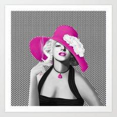 Marilyn in Pop Art with pink Art Print