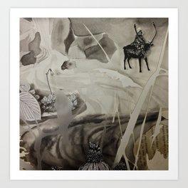 Seek- Landscape Shadowbox Detail Art Print