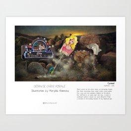 """Carmel"" in words & image (M.Konecka) Art Print"