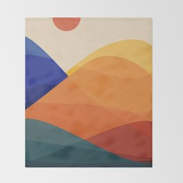 Meditative Mountains Throw Blanket