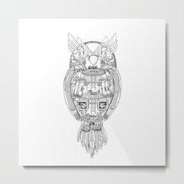 Owl Works Metal Print