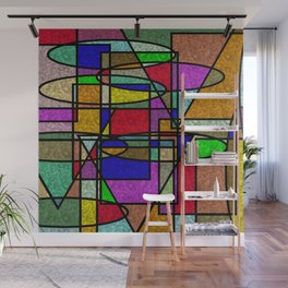 Abstract Stained Glass Wall Mural