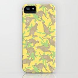 crazy kangaroos iPhone Case