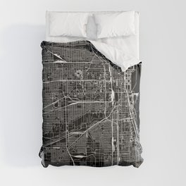 Chicago Black Map Comforters