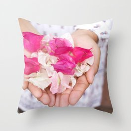 Pedal Fingers Throw Pillow