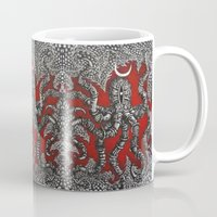 octopus Mugs featuring Octopus by Sherdeb Akadan