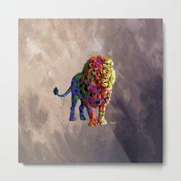 Cubed Lion King Metal Print