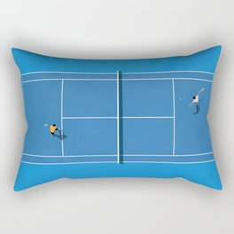 Australian Open Grand Slam | Blue Tennis Court  Rectangular Pillow