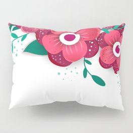 poster with bright flowers. Trendy Design Template. Pillow Sham