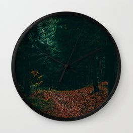 the moody forest Wall Clock