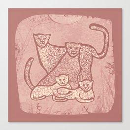 Family Cheetahs Canvas Print