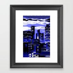 pxl cityscape Framed Art Print