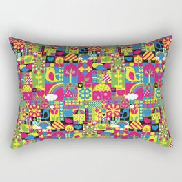 Squares Rectangular Pillow