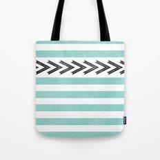 ARROW STRIPE {TEAL} Tote Bag