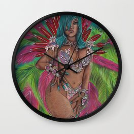 Queen of Carnival Wall Clock