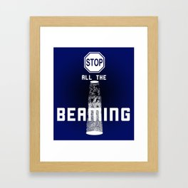 """""""Stop All The Beaming"""" - Alien Abduction Framed Art Print"""