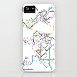 World Metro Subway Map iPhone Case