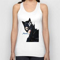 returns Tank Tops featuring Catwoman Returns  by LARiozzi