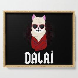 Dalai Lama Funny Alpaca Gift Llamaste Funny Cool Serving Tray