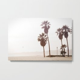 Vintage Summer Palm Trees Metal Print