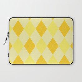 Yellow Argyle Pattern Laptop Sleeve